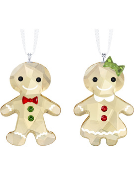 Gingerbread Couple Ornament Set by Swarovski