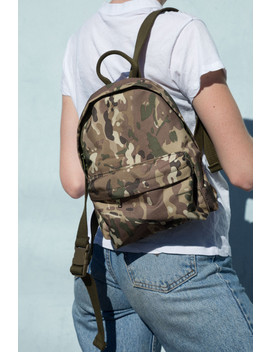 Mini Camouflage Backpack by Brandy Melville