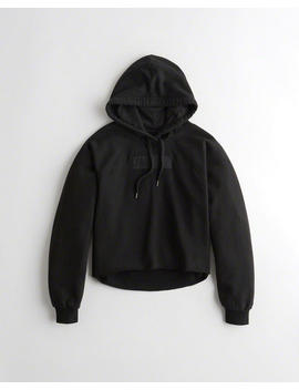 Cutoff Embroidered Logo Hoodie by Hollister