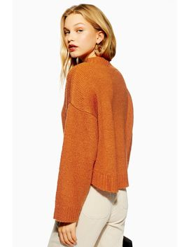 **Fluffy Crop Knitted Jumper By Native Youth by Topshop