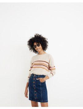Stretch Denim Straight Mini Skirt In Pfeiffer Wash by Madewell
