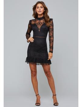Ruffled Lace Mini Dress by Bebe