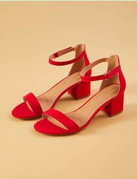 Short Ankle Strap Block Heel by Lane Bryant