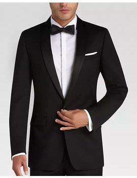 Calvin Klein Black Modern Fit Tuxedo by Mens Wearhouse