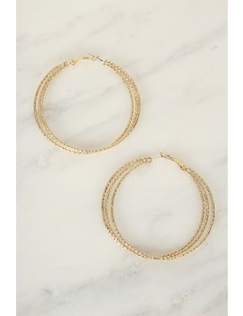 Sexy Gold Layered Hoop Earrings by Ami Clubwear