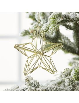 3 D Gold Metal Star by Crate&Barrel