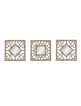3 Pc. Mirror Set – Wooden Finish Talavera Square3 Pc. Mirror Set – Wooden Finish Talavera Square by Kmart