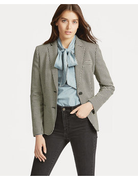 Houndstooth Twill Blazer by Ralph Lauren