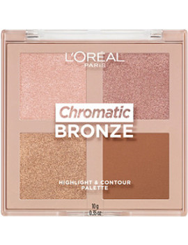 Chromatic Bronze Highlight And Contour Palette by L'oréal