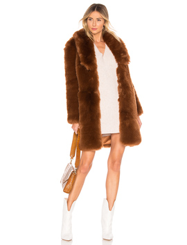 Winter Time Love Faux Fur Coat by The Jetset Diaries