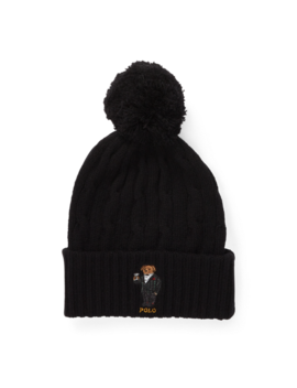 Polo Bear Pom Pom Hat by Ralph Lauren