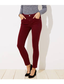 Curvy Soft Skinny Jeans In French Burgundy by Loft