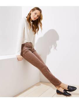 Shimmer Dot Velvet Skinny Jeans by Loft