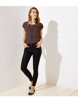 Modern Coated Skinny Jeans by Loft