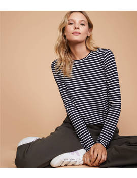 Lou & Grey Striped Softened Jersey Layering Tee by Loft