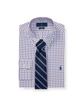 Slim Tattersall Oxford Shirt by Ralph Lauren