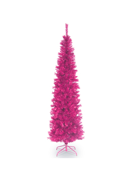 National Tree Company 6 Ft Unlit Pink Tinsel Tree National Tree Company 6 Ft Unlit Pink Tinsel Tree by Sears