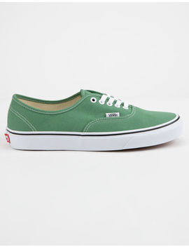 Vans Authentic Deep Grass Green & True White Shoes by Vans
