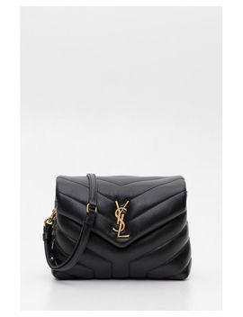 Women's Black Toy Loulou Shoulderbag by Saint Laurent