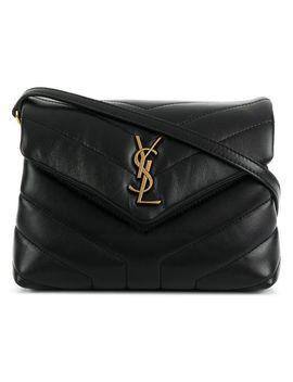 Women's Black Toy Loulou Shoulder Bag by Saint Laurent