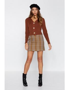 Now Then Cardi Bum Cropped Cardigan by Nasty Gal