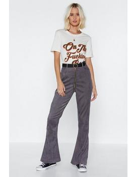 Zip The Scales Cord Pants by Nasty Gal