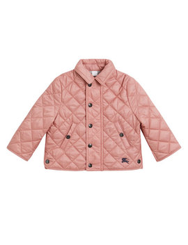 Lyle Quilted Snap Jacket, Size 6 M 3 by Burberry