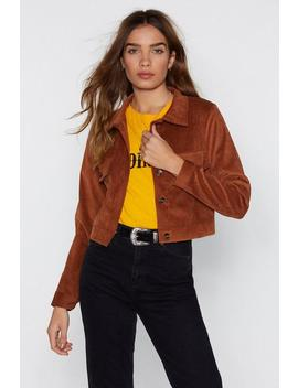 A Touchy Moment Corduroy Jacket by Nasty Gal