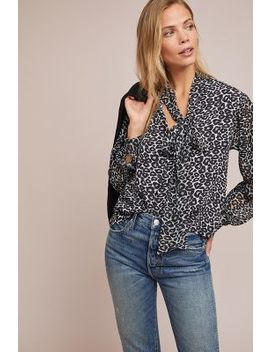 Marion Leopard Print Peasant Top by Conditions Apply