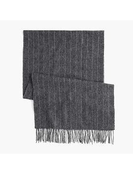 Charcoal Stripe Alpaca Scarf by J.Crew