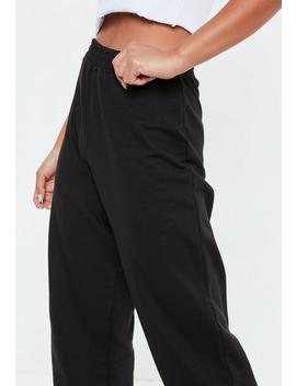 Petite Black 80's Joggers by Missguided