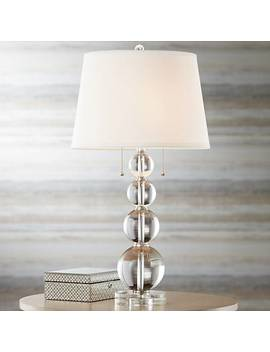 Vienna Full Spectrum Stacked Crystal Spheres Table Lamp by Lamps Plus