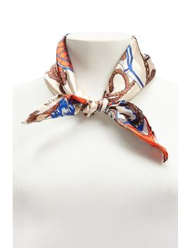 Satin Rope & Wheel Print Scarf by Forever 21