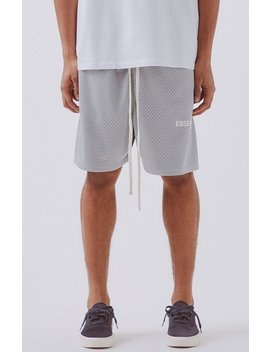 Fog   Fear Of God Essentials Graphic Mesh Drawstring Shorts by Pacsun
