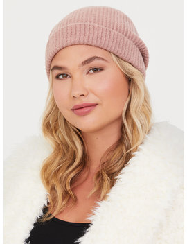 Dusty Pink Ribbed Knit Beanie by Torrid