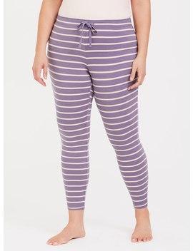 Purple & Pink Stripe Lounge Legging by Torrid