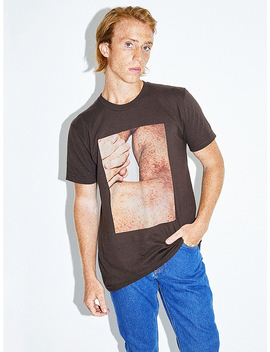 Printed Fine Jersey T Shirt by American Apparel
