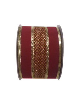 Holiday Living 2.5 In W X 30 Ft L Red/Gold Mesh Ribbon by Lowe's