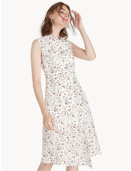 Cowl Neck Floral Dress   White by Pomelo
