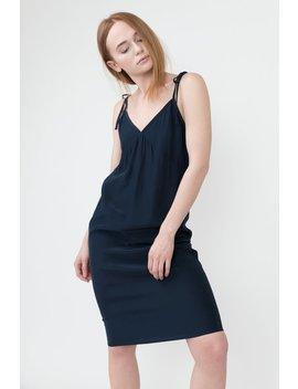 Jenni Kayne Tie Slip Dress   Navy by Garmentory