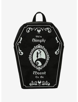 The Nightmare Before Christmas Simply Meant To Be Coffin Mini Backpack by Hot Topic