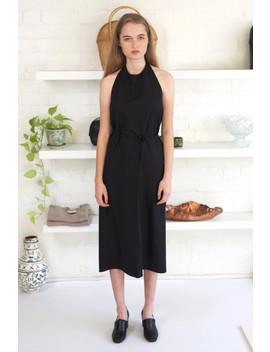Baserange Apron Dress Raw Silk by Garmentory