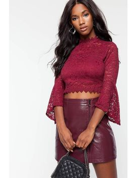 Crochet Mesh Blouse by A'gaci