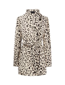 Textured Leopard Wrap Coat by Ce015 Cd064 Cd038 Ce019 Zd507 Cd010 Cd036