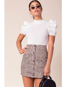 Wild Side Buttoned Mini Skirt by A'gaci