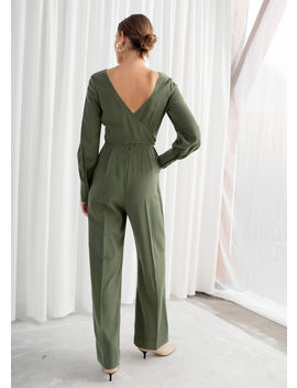 Flared Belted Jumpsuit by & Other Stories
