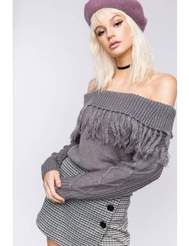 Madeline Fringe Long Sleeve Top by A'gaci