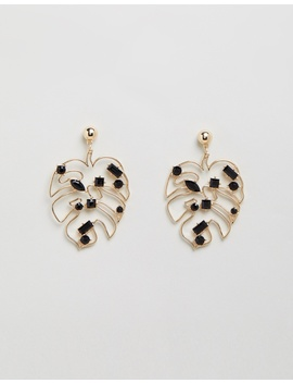 Gem Leaf Earrings by Topshop