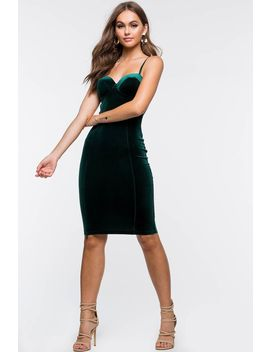 Love Lies Velvet Column Dress by A'gaci