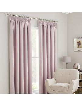 Solar Pink Thermal Blackout Pencil Pleat Curtains by Dunelm